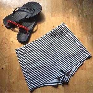 H&M high-waisted short shorts ▪️B&W striped ▪️NWT